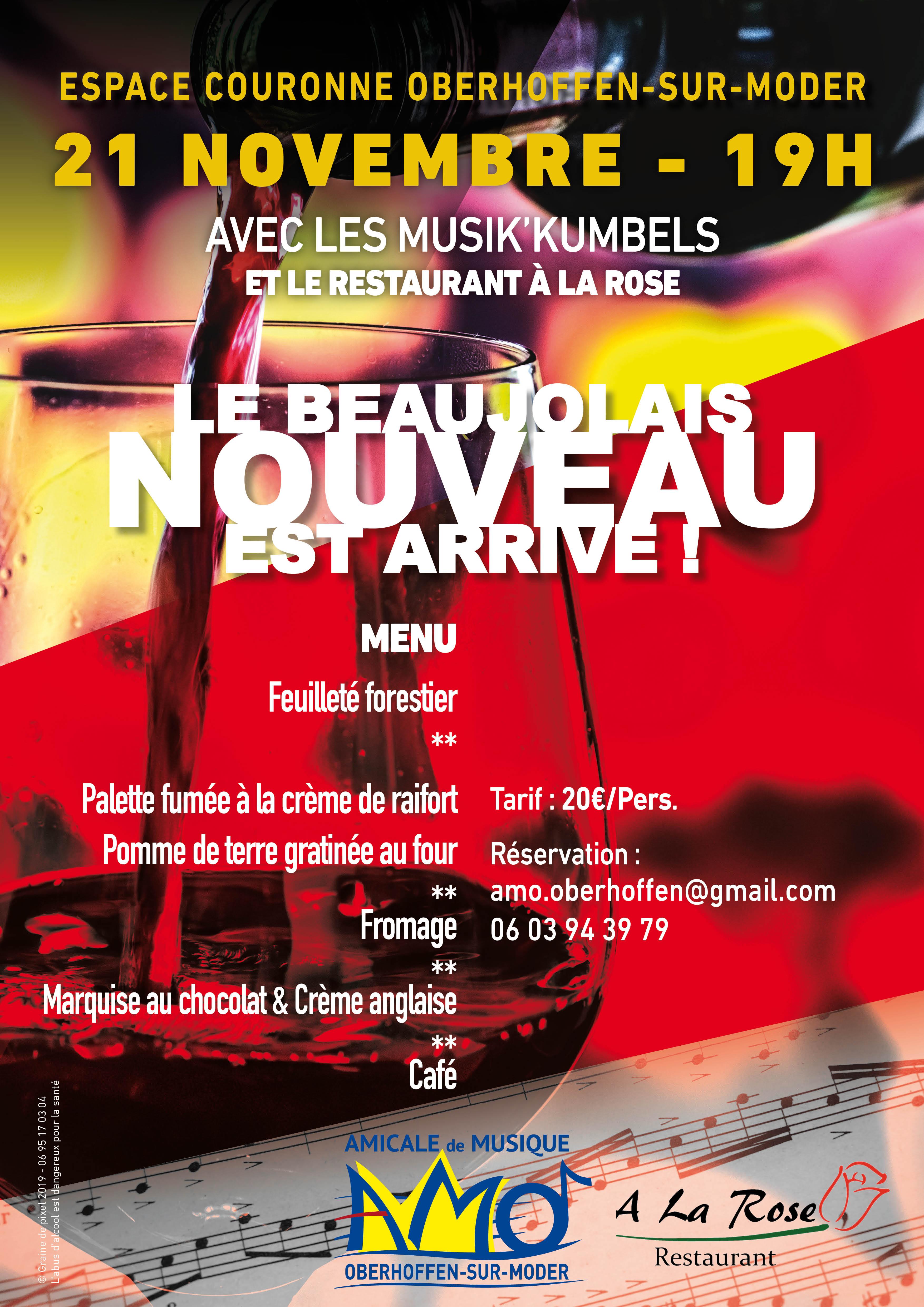 affiche beaujolais nouveau AMO Oberhoffen